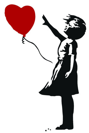 Banksy Balloon Heart Girl Wall Sticker - Canvas Art Rocks