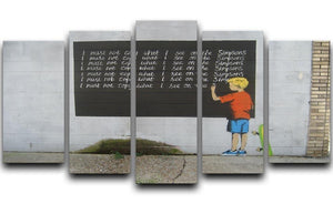 Banksy Bart Simpson 5 Split Panel Canvas  - Canvas Art Rocks - 1