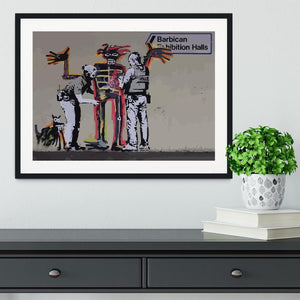 Banksy Basquiat Metropolitan Police Framed Print - Canvas Art Rocks - 1