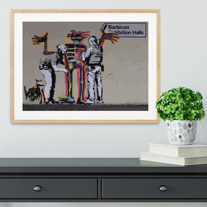 Banksy Basquiat Metropolitan Police Framed Print - Canvas Art Rocks - 3