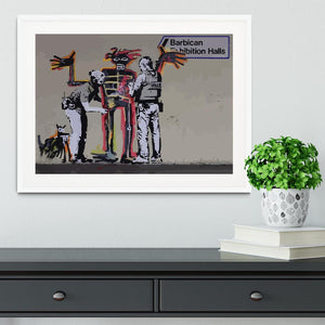 Banksy Basquiat Metropolitan Police Framed Print - Canvas Art Rocks - 5