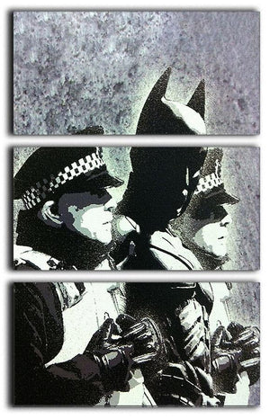 Banksy Batman and the Police 3 Split Canvas Print - Canvas Art Rocks