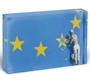 Banksy Brexit Star Dover Acrylic Block - Canvas Art Rocks - 1