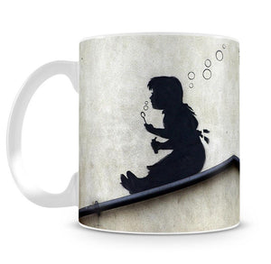 Banksy Bubble Slide Girl Mug - Canvas Art Rocks