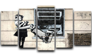 Banksy Cash Machine Girl 5 Split Panel Canvas  - Canvas Art Rocks - 1