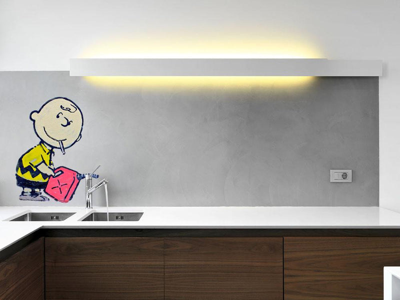Banksy Charlie Brown Wall Sticker - Canvas Art Rocks
