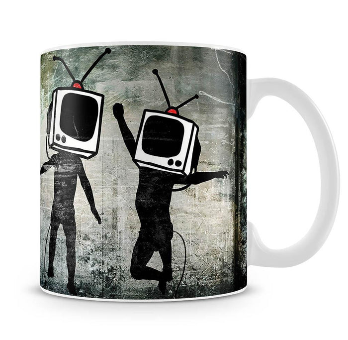 Banksy Dancing TV Heads Mug
