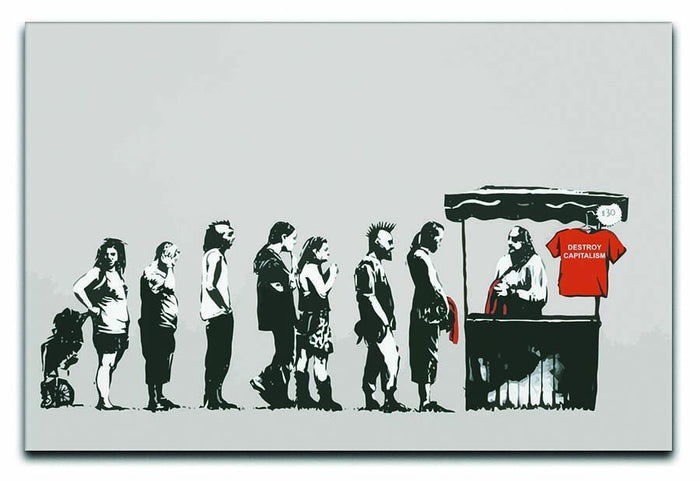 Banksy Destroy Capitalism Canvas Print or Poster