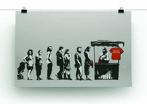 Banksy Destroy Capitalism Canvas Print or Poster - Canvas Art Rocks - 2