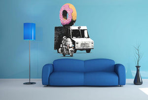 Banksy Doughnut Police Escort Wall Sticker - Canvas Art Rocks