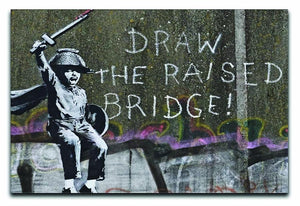 Banksy Draw The Raised Bridge Canvas Print or Poster  - Canvas Art Rocks - 1
