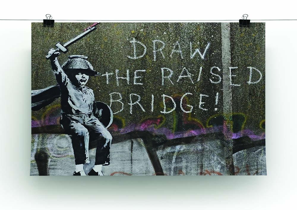 Banksy Draw The Raised Bridge Canvas Print or Poster | Canvas Art Rocks