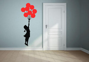 Banksy Flying Balloon Girl Wall Sticker - Canvas Art Rocks