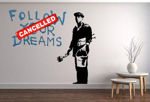 Banksy Follow Your Dreams Wall Sticker - Canvas Art Rocks