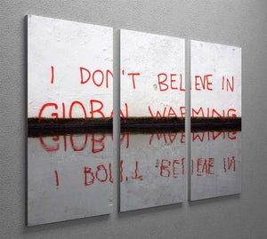 Banksy Global Warming 3 Split Panel Canvas Print - Canvas Art Rocks - 2