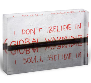 Banksy Global Warming Acrylic Block - Canvas Art Rocks - 1