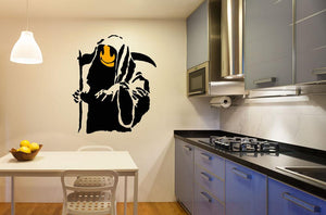 Banksy Grim Reaper Wall Sticker - Canvas Art Rocks