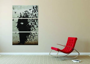 Banksy Hitchcock Birds 3 Split Panel Canvas Print - Canvas Art Rocks - 2