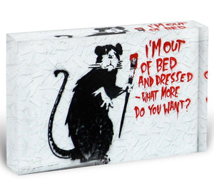 Banksy I'm Out Of Bed And Dressed Acrylic Block - Canvas Art Rocks - 1
