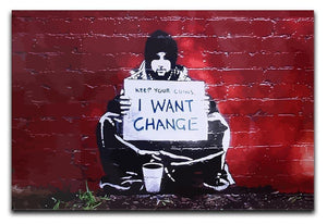 Banksy Keep Your Coins Canvas Print or Poster  - Canvas Art Rocks - 1