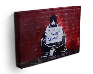 Banksy Keep Your Coins Canvas Print or Poster - Canvas Art Rocks - 3