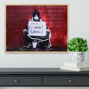Banksy Keep Your Coins Framed Print - Canvas Art Rocks - 4