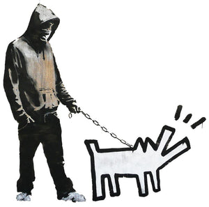 Banksy Keith Haring Dog Wall Sticker - Canvas Art Rocks