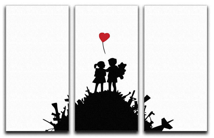 Banksy Kids on Gun Hill 3 Split Canvas Print