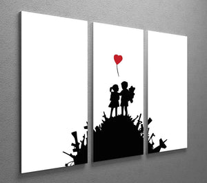 Banksy Kids on Gun Hill 3 Split Canvas Print - Canvas Art Rocks