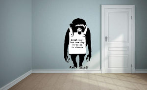 Banksy Laugh Now Wall Sticker Wall Sticker - Canvas Art Rocks