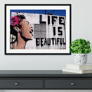 Banksy Life is Beautiful Framed Print - Canvas Art Rocks - 1