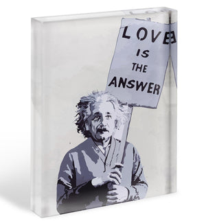 Banksy Love Is The Answer Acrylic Block - Canvas Art Rocks - 1