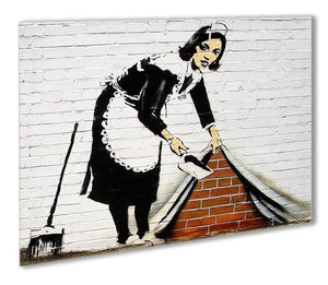 Banksy Maid Sweeping Under The Carpet Outdoor Metal Print - Canvas Art Rocks - 1