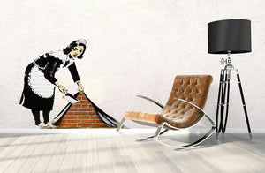Banksy Maid Wall Sticker - Canvas Art Rocks