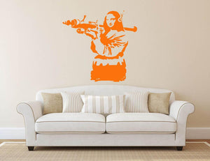 Banksy Mona Lisa Wall Sticker - Canvas Art Rocks