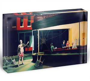 Banksy Nighthawks Acrylic Block - Canvas Art Rocks - 1