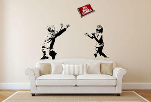 Banksy No Ball Games Wall Sticker - Canvas Art Rocks