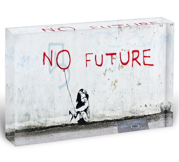 Banksy No Future Acrylic Block