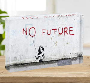 Banksy No Future Acrylic Block - Canvas Art Rocks - 2
