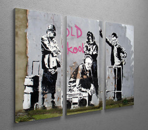 Banksy Old Skool 3 Split Canvas Print - Canvas Art Rocks