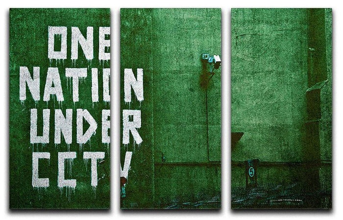 Banksy One Nation Under CCTV 3 Split Panel Canvas Print