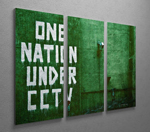 Banksy One Nation Under CCTV 3 Split Panel Canvas Print - Canvas Art Rocks