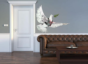 Banksy Peace Dove Wall Sticker - Canvas Art Rocks