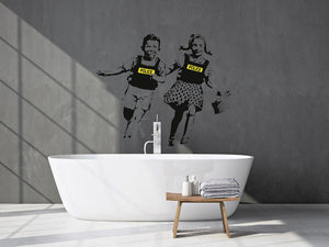 Banksy Police Kids Wall Sticker - Canvas Art Rocks
