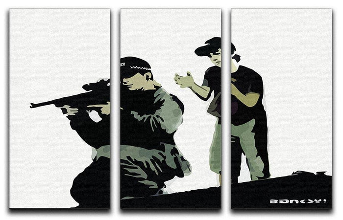 Banksy Police Sniper 3 Split Panel Canvas Print