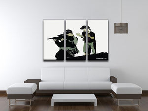 Banksy Police Sniper 3 Split Panel Canvas Print - Canvas Art Rocks - 4