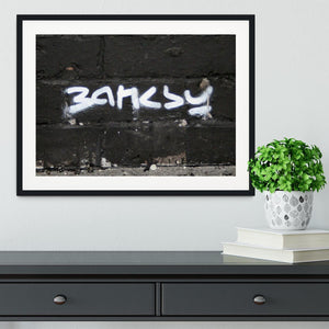 Banksy Signature Tag Framed Print - Canvas Art Rocks - 1