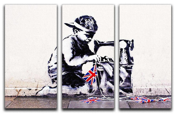 Banksy Slave Labour 3 Split Panel Canvas Print