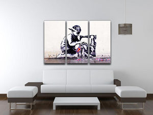 Banksy Slave Labour 3 Split Panel Canvas Print - Canvas Art Rocks