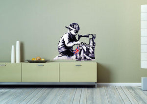 Banksy Slave Labour Wall Sticker - Canvas Art Rocks